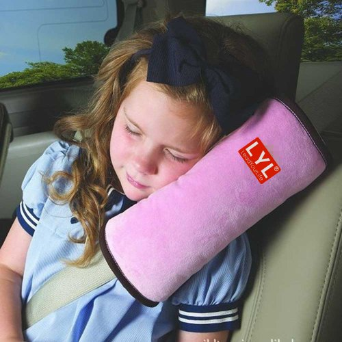 LYL Children Baby Soft Headrest Neck Support Pillow Shoulder Pad for Car Safety Seatbelt
