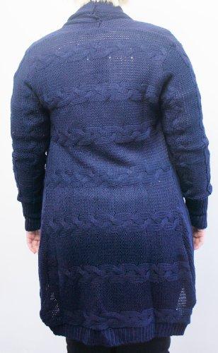 Jane Norman Veste en tricot pour femme Bleu Bleu marine
