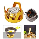 Cheap Mini Alcohol Stove, X.Store Portable Aluminium Alloy Brass Mini Alcohol Burner for Outdoor Camping, Hiking, Backpacking
