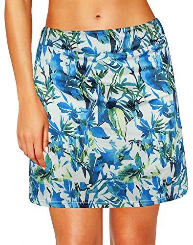 Oyamiki Women's Active Athletic Skort Lightweight Tennis Skirt Perfect for Running Training Sports Golf - Knit Running Skirt