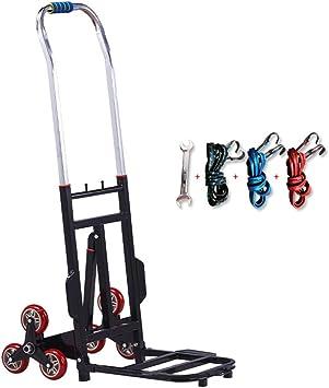Carretilla 330 LBS Capacidad Carril trepador de escaleras trepadora portátil Plegable de Altura plegada de 30 Pulgadas Escalada de Tres Ruedas Camión Manual para Escalador de escaleras: Amazon.es: Hogar