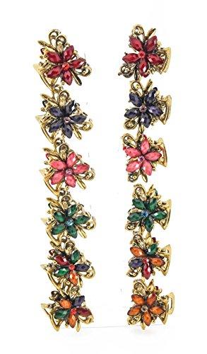 Yeshan Vintage Flower Rhinestone Crystal