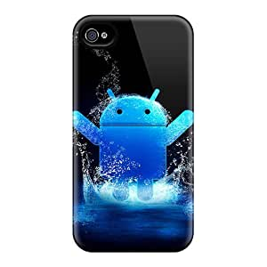 Premium YbRRc20269MVyNp Case With Scratch-resistant/ Android Blue Case Cover For Iphone 4/4s