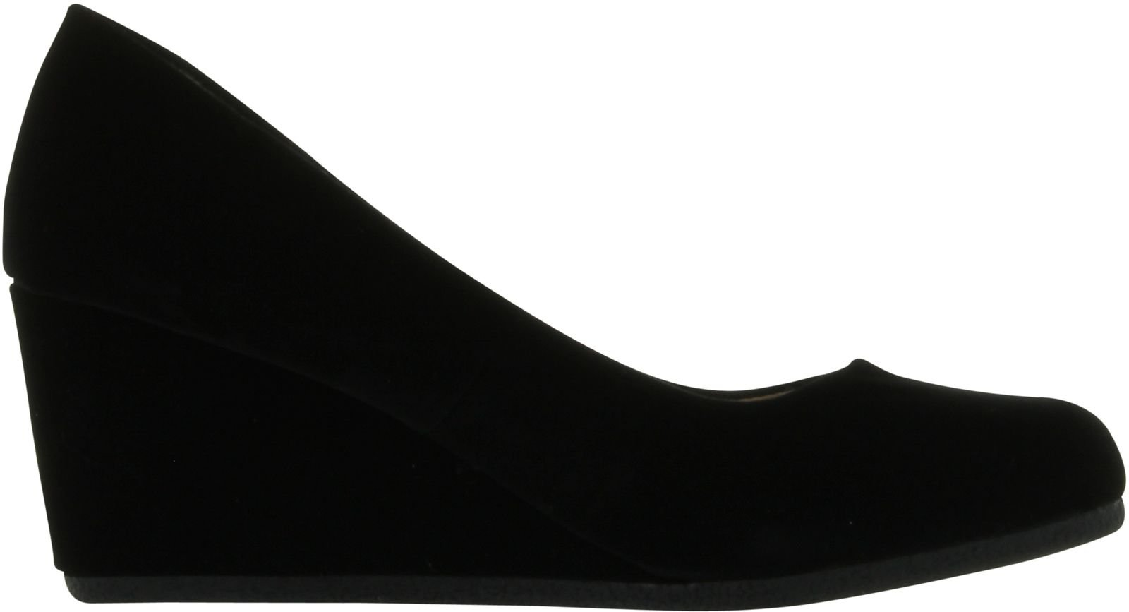 Forever Link Women's Patricia-02 Wedge Pumps Shoes,Black Suede,10 by Forever (Image #2)