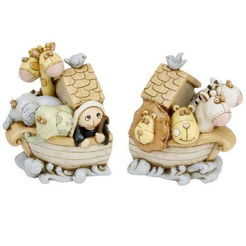 Christening Gifts. Baby Noah's Ark Bookends by The Emporium Christening Gifts