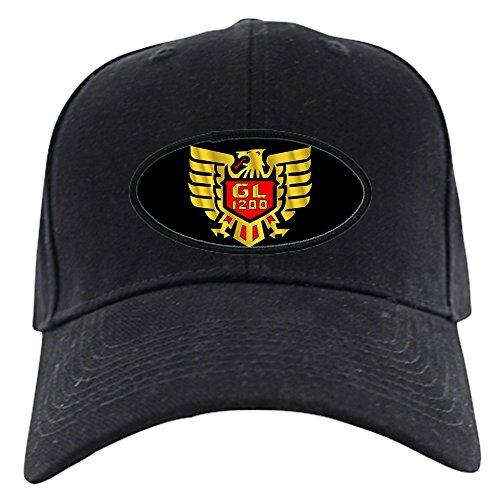 CafePress - Goldwing Shop #GL12 Gold Eagle Black Cap - Baseball Hat, Novelty Black Cap ()