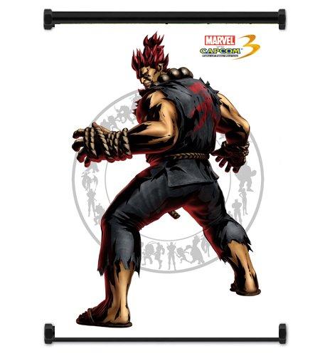 Marvel Vs Capcom 3 Akuma Game Fabric Wall Scroll Poster  Inc