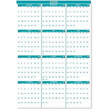 Federal Pay Period Calendar 2020.Amazon Com At A Glance 2019 Yearly Wall Calendar 36 X 24