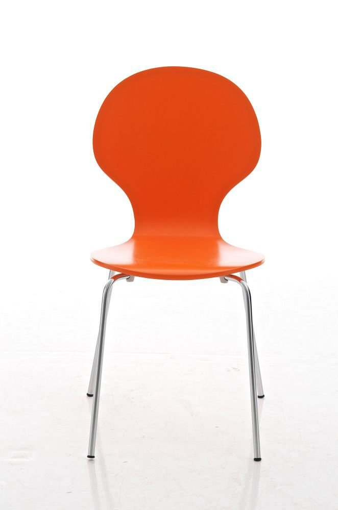 robust and easy-care with ergonomically formed seat made of wood CLP Reception Chair//Stacking Chair DIEGO 2x choose from up to 12 colours black
