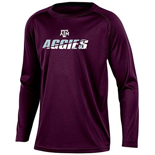 (NCAA Texas A&M Aggies Youth Boys Long Sleeve Crew Neck T-shirt, X-Large)