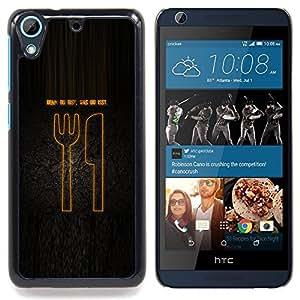 """Comida alemana"""" - Metal de aluminio y de plástico duro Caja del teléfono - Negro - HTC Desire 626 626w 626d 626g 626G dual sim"""