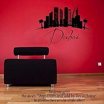 Dubai Cityscape City Skyline 3D Window Wall Sticker Art Vinyl Decal Decor Mural