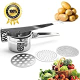 Best Potato Ricers - Potato Ricer Stainless Steel with 3 Interchangeable Ricing Review
