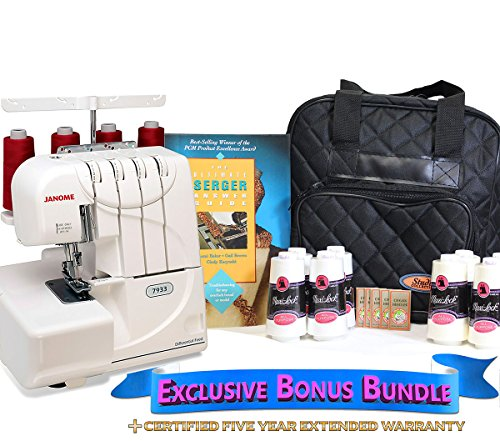 Great Features Of Janome 7933 Horizon Serger with Exclusive Bonus Bundle