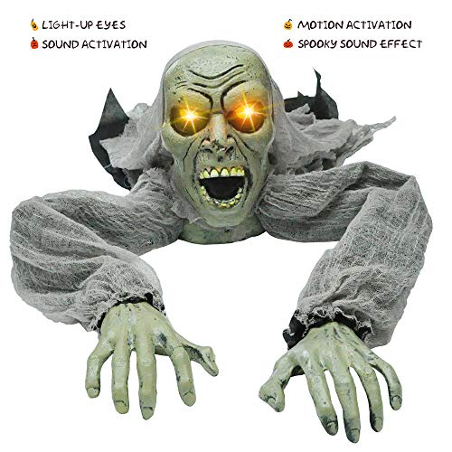 Zombie Halloween Props - JOYIN Halloween Décor Groundbreaker Zombie with