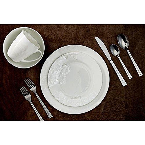 Amazon.com: Roscher 32-piece Almond Blossom Bone China Dinnerware ...