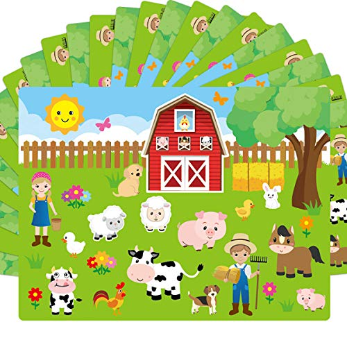 Make A Farm Sticker Scene 12 Cardboard Backgrounds