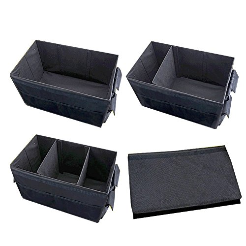 AUTOOL Large Automotive Trunk Organizers Can with Lid For Car, SUV, Truck - Durable Collapsible Cargo Storage - Non Slip Bottom Bases to Prevent Sliding Foldable ADHESIVE WATERPROOF SEAL - Base Slip