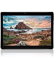 """Android Tablet - 10 """"-Bildschirm, Quad Core, 4 GB RAM, 64 GB ROM, Kamera, WiFi, GPS, Zwei SIM-Kartensteckplätze, Mobile Tablet mit entsperrtem 3G (Schwarz)"""