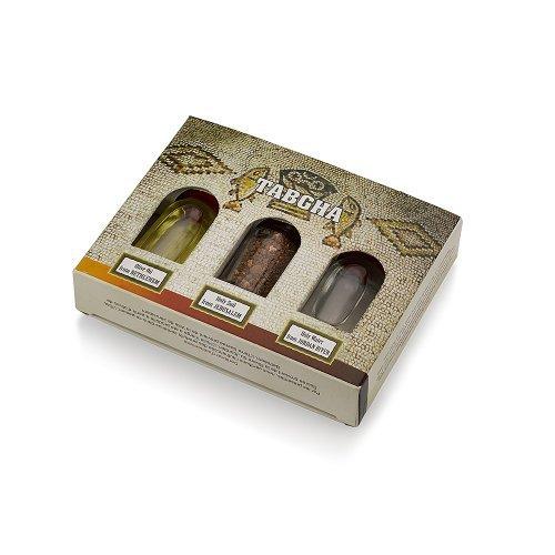 (3 in 1 Holy Land Collection Holy Jordan River Water, Jerusalem Soil, Bethlehem Olive Oil)