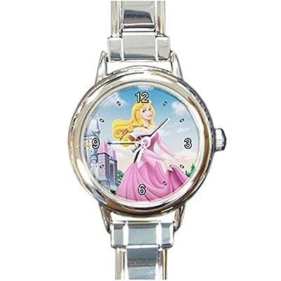 Disney Princess Aurora Cartoon Custom Design Round Italian Charm Watch Limited Edition#2