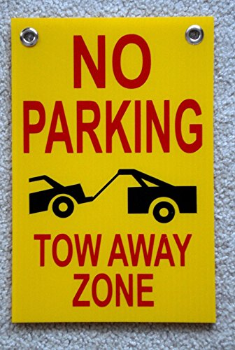 Inside Zone Running Game (1-Pcs Primo Popular No Parking Tow Away Zone Board Yard Message Outdoor Park Declare Size 8