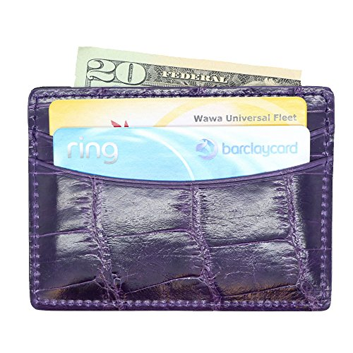 Card Business Alligator Pocket Credit Genuine 5 Genuine Alligator Case Spq0I