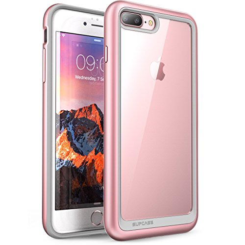 iPhone 8 Plus Case, SUPCASE Unicorn Beetle Style Premium Hybrid Protective Clear Bumper Case [Scratch Resistant] for Apple iPhone 7 Plus 2016 / iPhone 8 Plus 2017 Release (Rosegold)