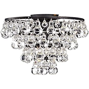 mount lighting crystal ceiling stylish to with chandelier regard decor flush home mounted fpudining ceilings