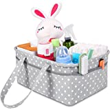 Sweet Carling's Large Baby Diaper Caddy Organizer   Baby Shower Registry Must Haves For Boy Girl   Portable Car Travel Basket   Nursery Changing Table Storage Bin   Made From Premium Cotton Canvas