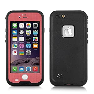 Newest Version iPhone 6 6S Plus Water-Resistance Case, FAVOLCANO 6.6ft Underwater Waterproof Shockproof Dirtproof Snowproof Dustproof Sweatproof Protection Case Cover with Fingerprint Touch ID for Apple 5.5 inch iPhone 6 6S Plus (Pink)