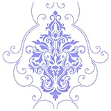 """wall painting ideas Damask Stencil - (size 14""""w x 14""""h) Reusable Wall Stencils for Painting - Best Quality Wall Art Décor Ideas - Use on Walls, Floors, Fabrics, Glass, Wood, Terracotta, and More..."""