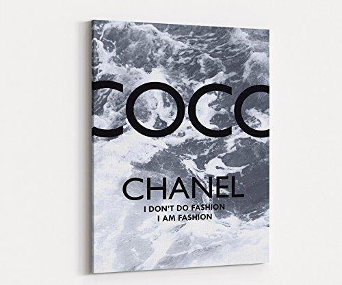 "Wall Art Glam Decor Quote Surfer Girl #5 Supermodel Poster Fashion Print on Canvas Decor Black and White 20""x28"" 976"
