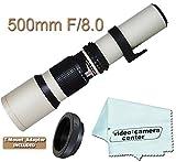 500mm F/8.0 Telephoto Zoom Lens For PENTAX K2000 K10D K10D K100 K100D 645D Q K-5 K-7 K-R K20D K200D + T-Mount &VCC113 Micro-Fiber Cloth