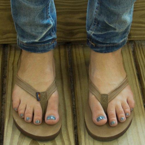 9a6d1b12546e good Rainbow Sandals Women Premium Leather Narrow Strap Single Layer ...