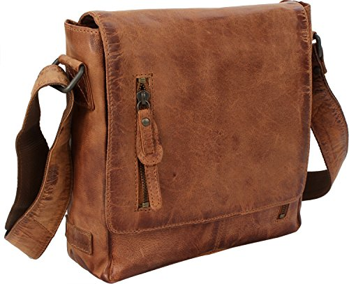 Leather Cm Portobello Hamled Shoulder Brown Hamburg Bag 26 4PwOq1S
