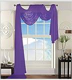 Elegant Comfort Beautiful Window Sheer Voile Scarf