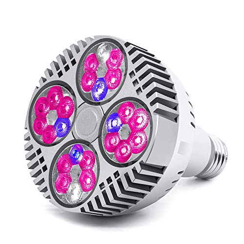 CANAGROW 35W LED Grow Light Bulb, Grow Lights for Indoor Plants, E26 Plant Grow Light Bulb, Grow Lamp for Hydroponic Greenhouse Succulent Flower Veg and Bloom