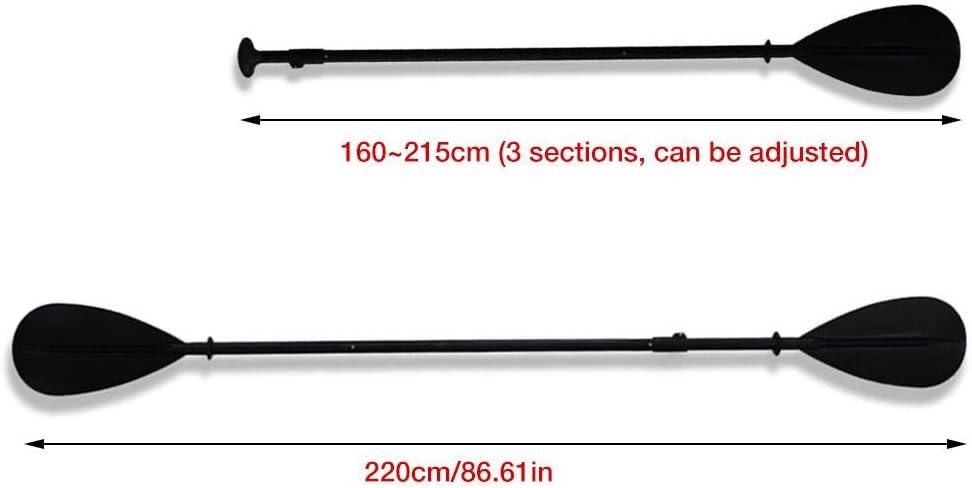 Cano/ë 160~215 CM Pagaies De Canoe Bateau Gonflable Rame Paddle Double Pagaie De Kayak Pagaie Paddle R/églable en Alliage Daluminium pour Kayak