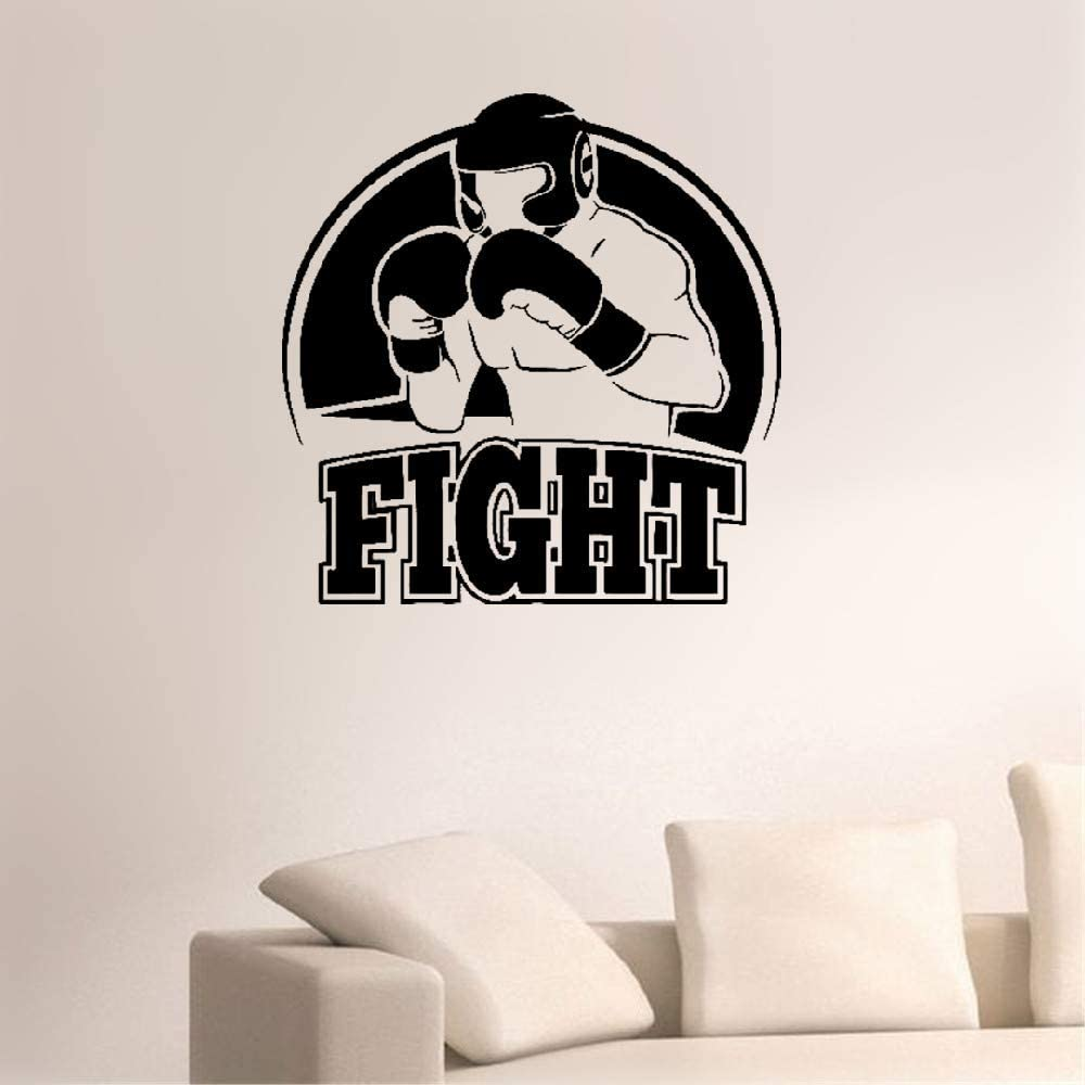 Amazon Com Weatyu Vinyl Wall Decals Quotes Sayings Words Art Decor Lettering Vinyl Wall Art Extreme Sports Boxing Fight Athlete Boxer Home Kitchen