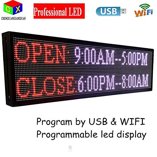 P6 7-Color Indoor led Sign and USB programmable Scrolling Texts & Time LED Display by CXGuangDian (Image #2)