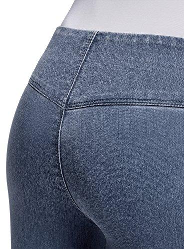 Vaqueros Azul oodji Cintura Mallas con Mujer Ultra 7500w Elástica 0zwEqz1