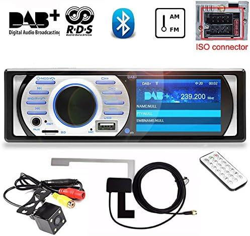 PolarLander 3インチHD TFTディスプレイ自動DAB +レシーバーカーラジオオーディオプレーヤーDABアンテナ付きのAM/FM / RDS/Bluetooth / MP3 / 4X45Wサポートリアビューカメラ