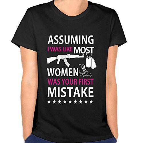 Duxa Women's Assuming I Was Like Most Women - Mistake Black - Locksley Clothing
