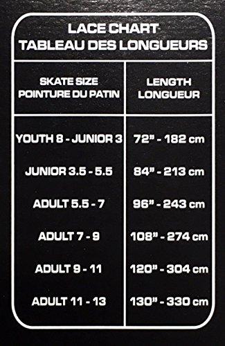Buy elite hockey pro-x7 skate laces x7-white, 130\