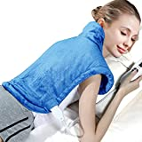 XL Shoulder and Back Heating Pad for Shoulder Back Pain Relief - Soft Heat Wrap with Auto Shut Off and Fast-Heating Technology - Electric Heated Pad with Moist Heat Therapy and Machine Washable