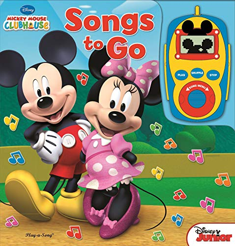 Disney - Mickey Mouse and Minnie Mouse Digital Music Player Board Book - Songs to Go - Play-a-Song - PI -