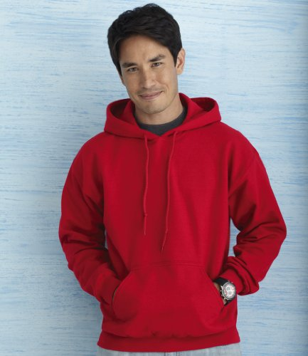 Gildan Men's Heavy Blend Hooded Sweatshirt Cherry Red XL