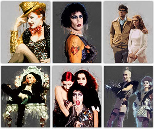 Rocky Horror Picture Show Poster Collection - Riff Raff - Columbia - Magenta - Brad and Janet - Frank - Set of 6 8x10 -