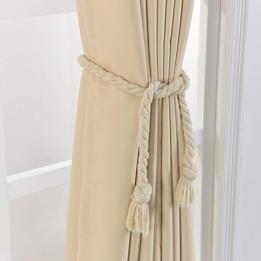 Proglam 2 Pcs Rideau Boucle Bande Embrasse Corde D/écoration Support Accessoires pour Maison